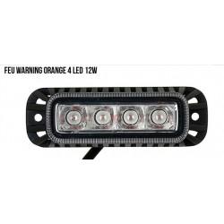 FEU WARNING ORANGE 4 LED 12W