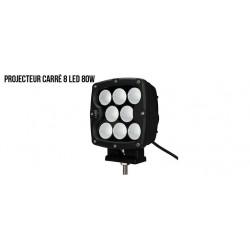 PROJECTEUR CARRE 8 LED 80W