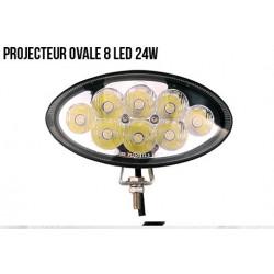 PROJECTEUR OVALE 8 LED 24W
