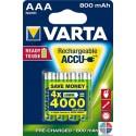 Pack 4 piles rechargeable aaa Varta 800mAh