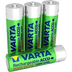 Pack 4 piles rechargeable aa Varta 1600mAh